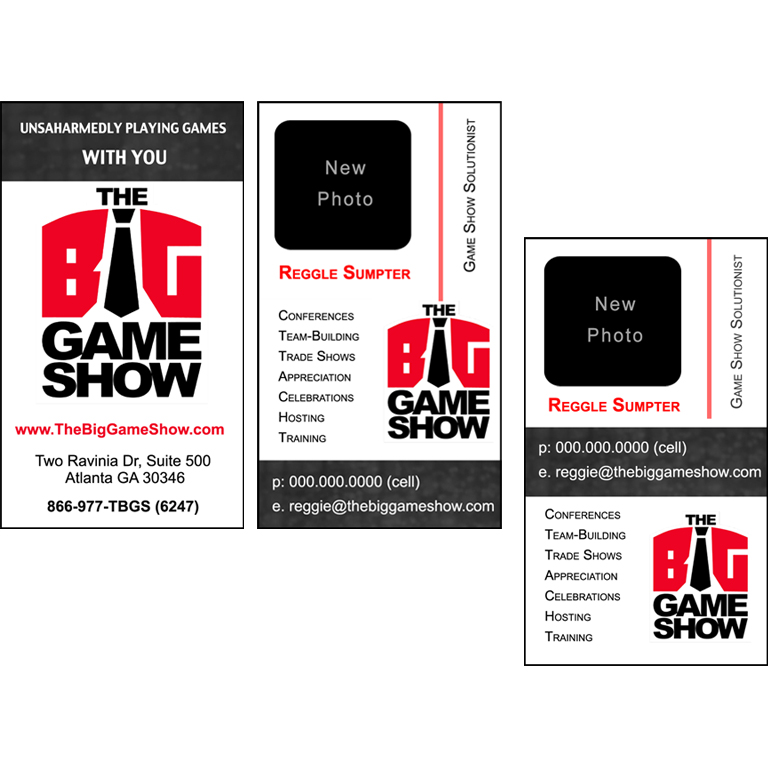 Business Card Design by double-take - Entry No. 12 in the Business Card Design Contest The Big Game Show business cards.