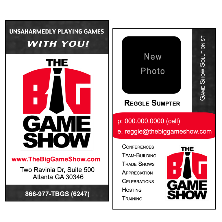 Business Card Design by double-take - Entry No. 13 in the Business Card Design Contest The Big Game Show business cards.
