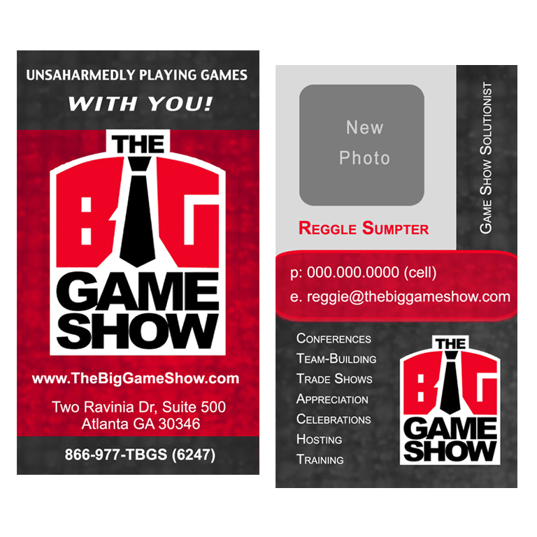 Business Card Design by double-take - Entry No. 15 in the Business Card Design Contest The Big Game Show business cards.