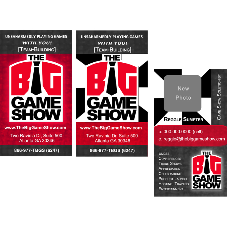 Business Card Design by double-take - Entry No. 16 in the Business Card Design Contest The Big Game Show business cards.