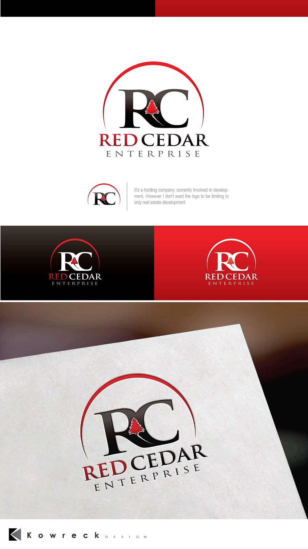 Logo Design by kowreck - Entry No. 14 in the Logo Design Contest Unique Logo Design Wanted for Red Cedar Enterprise.