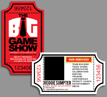 Business Card Design by JuanPilar - Entry No. 17 in the Business Card Design Contest The Big Game Show business cards.
