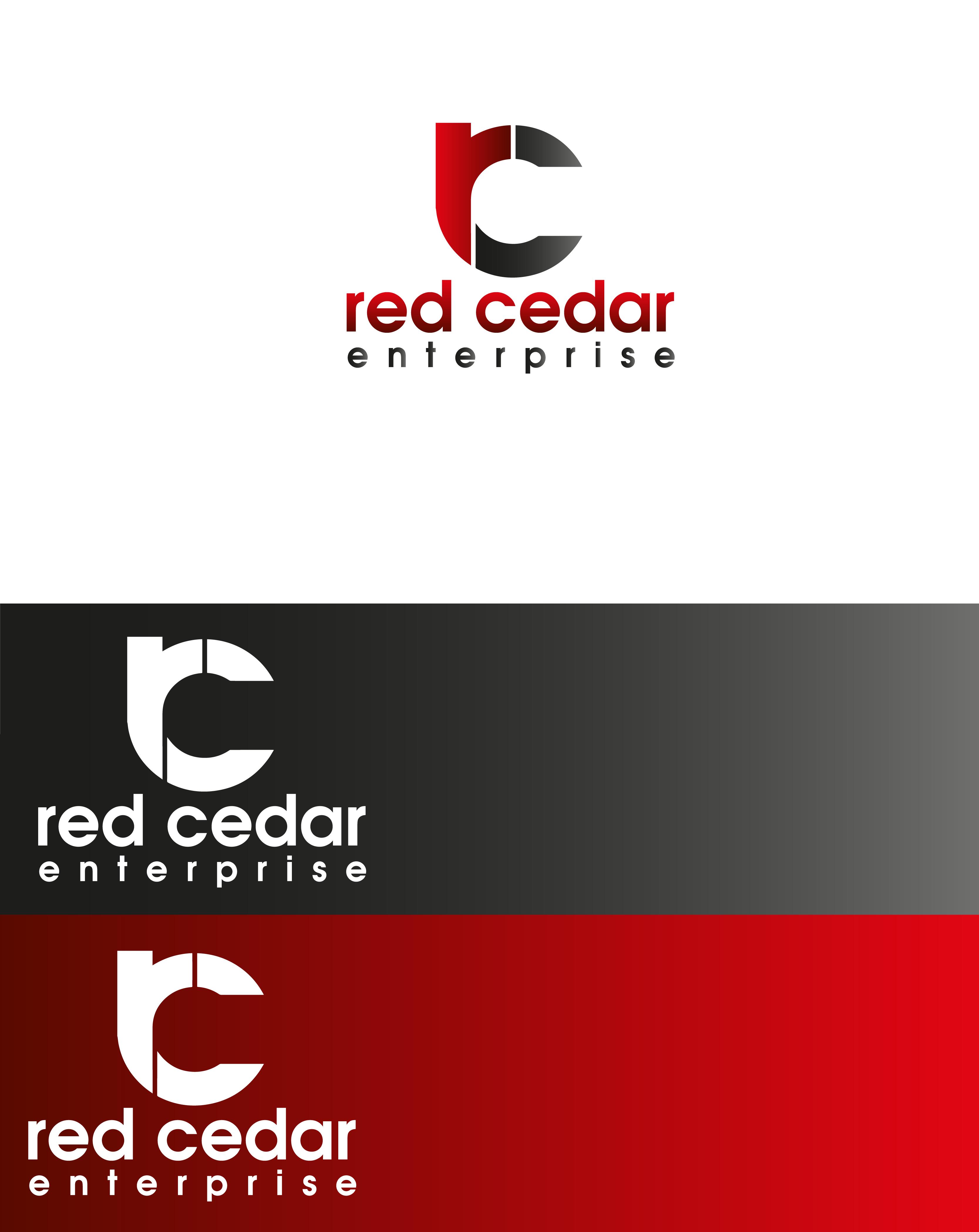 Logo Design by Private User - Entry No. 54 in the Logo Design Contest Unique Logo Design Wanted for Red Cedar Enterprise.