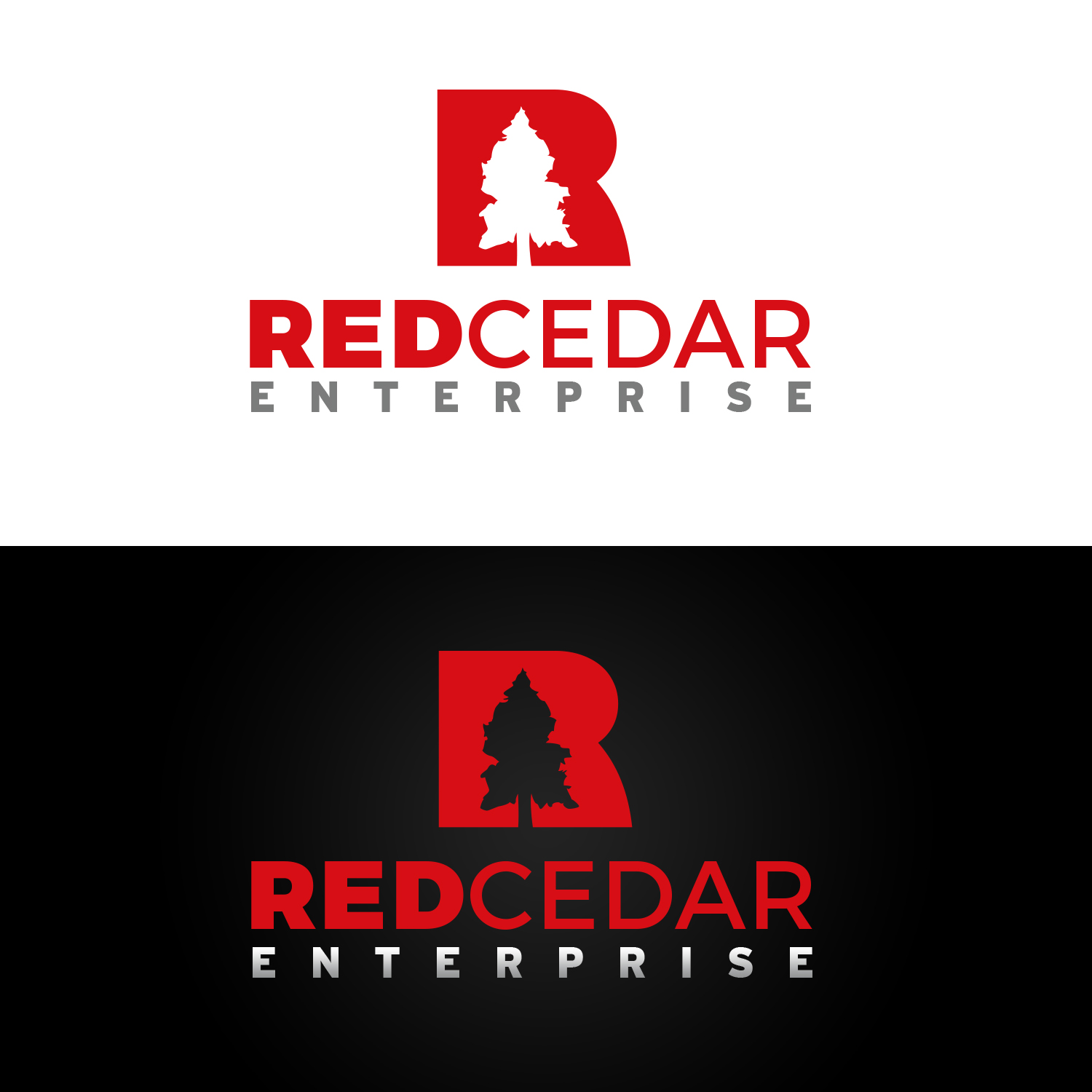Logo Design by Wojtek Sitarski - Entry No. 61 in the Logo Design Contest Unique Logo Design Wanted for Red Cedar Enterprise.