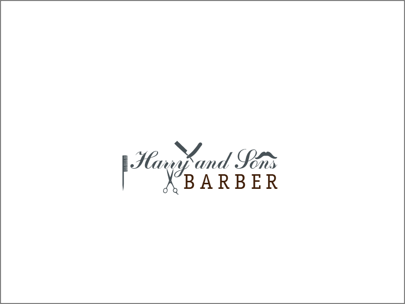 Logo Design by Private User - Entry No. 2 in the Logo Design Contest Captivating Logo Design for Harry and Sons Barber.