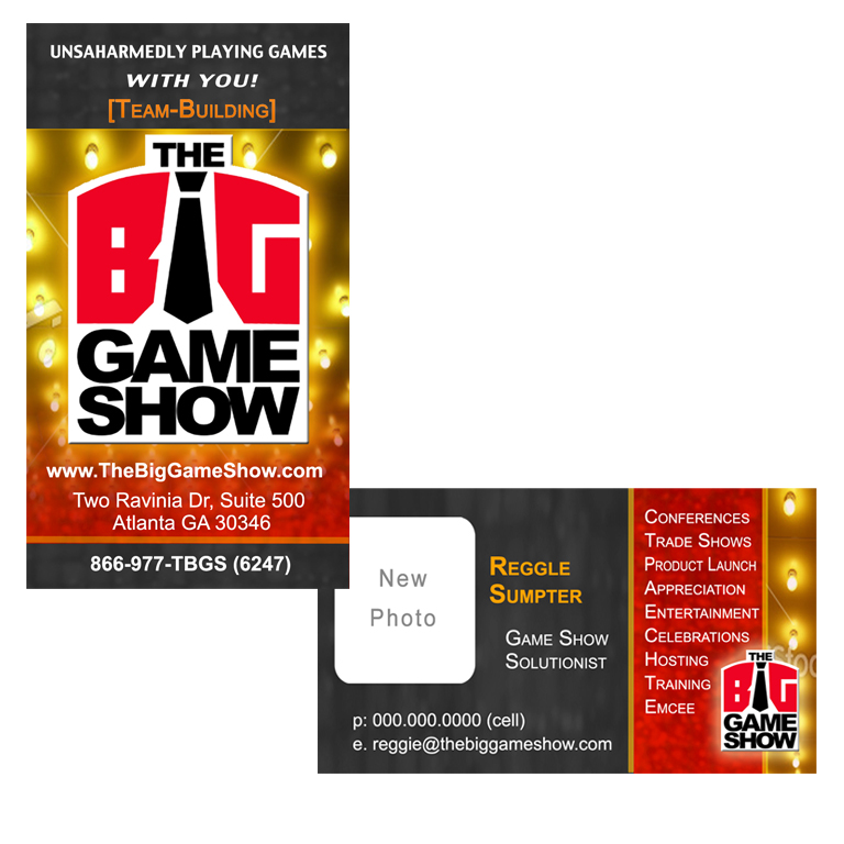 Business Card Design by double-take - Entry No. 18 in the Business Card Design Contest The Big Game Show business cards.