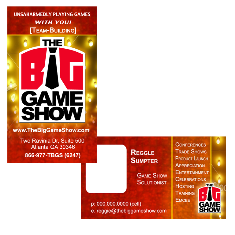Business Card Design by double-take - Entry No. 19 in the Business Card Design Contest The Big Game Show business cards.