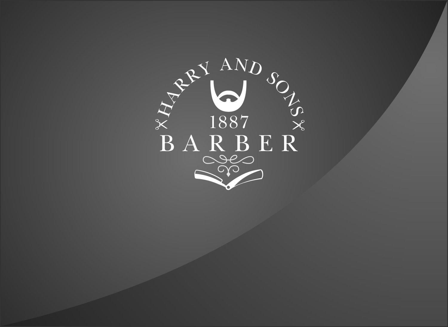 Logo Design by Private User - Entry No. 8 in the Logo Design Contest Captivating Logo Design for Harry and Sons Barber.