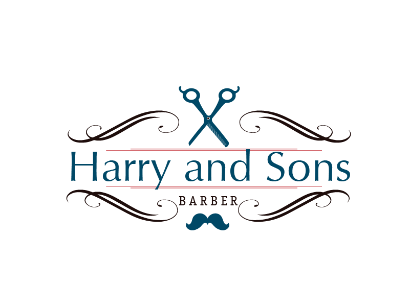 Logo Design by brands_in - Entry No. 12 in the Logo Design Contest Captivating Logo Design for Harry and Sons Barber.