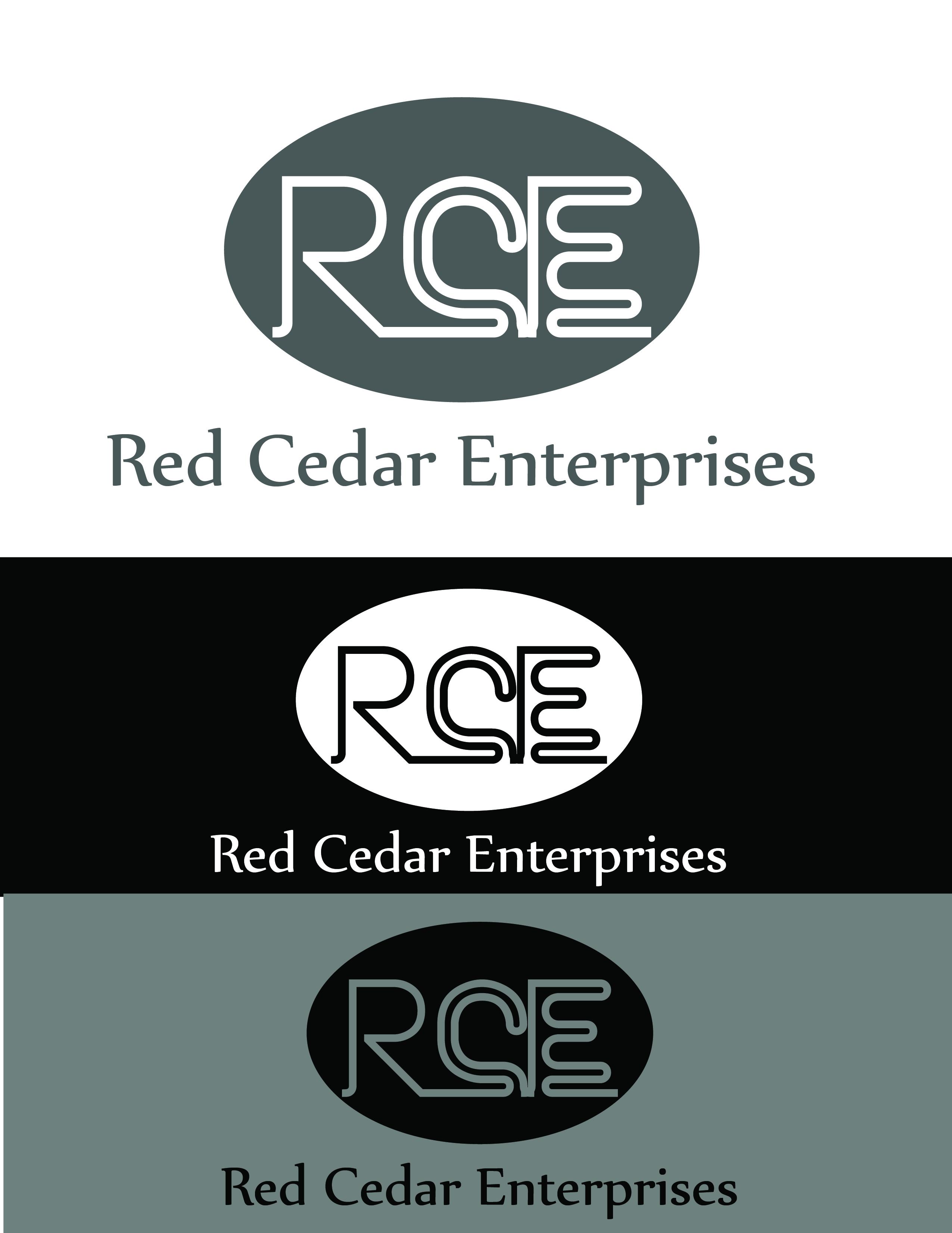 Logo Design by AQIB SHAIKH - Entry No. 78 in the Logo Design Contest Unique Logo Design Wanted for Red Cedar Enterprise.