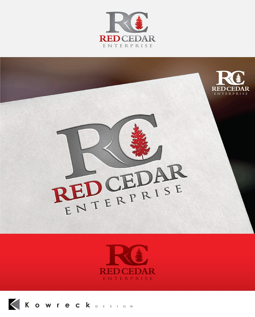 Logo Design by kowreck - Entry No. 82 in the Logo Design Contest Unique Logo Design Wanted for Red Cedar Enterprise.