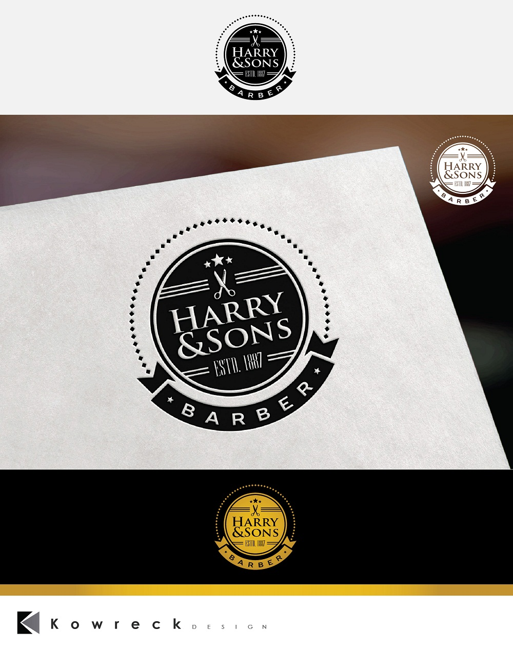 Logo Design by kowreck - Entry No. 14 in the Logo Design Contest Captivating Logo Design for Harry and Sons Barber.