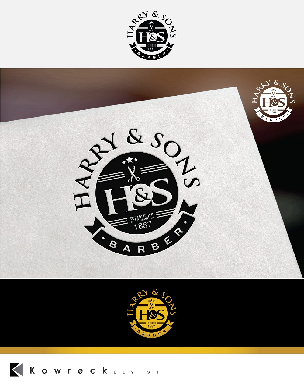 Logo Design by kowreck - Entry No. 15 in the Logo Design Contest Captivating Logo Design for Harry and Sons Barber.