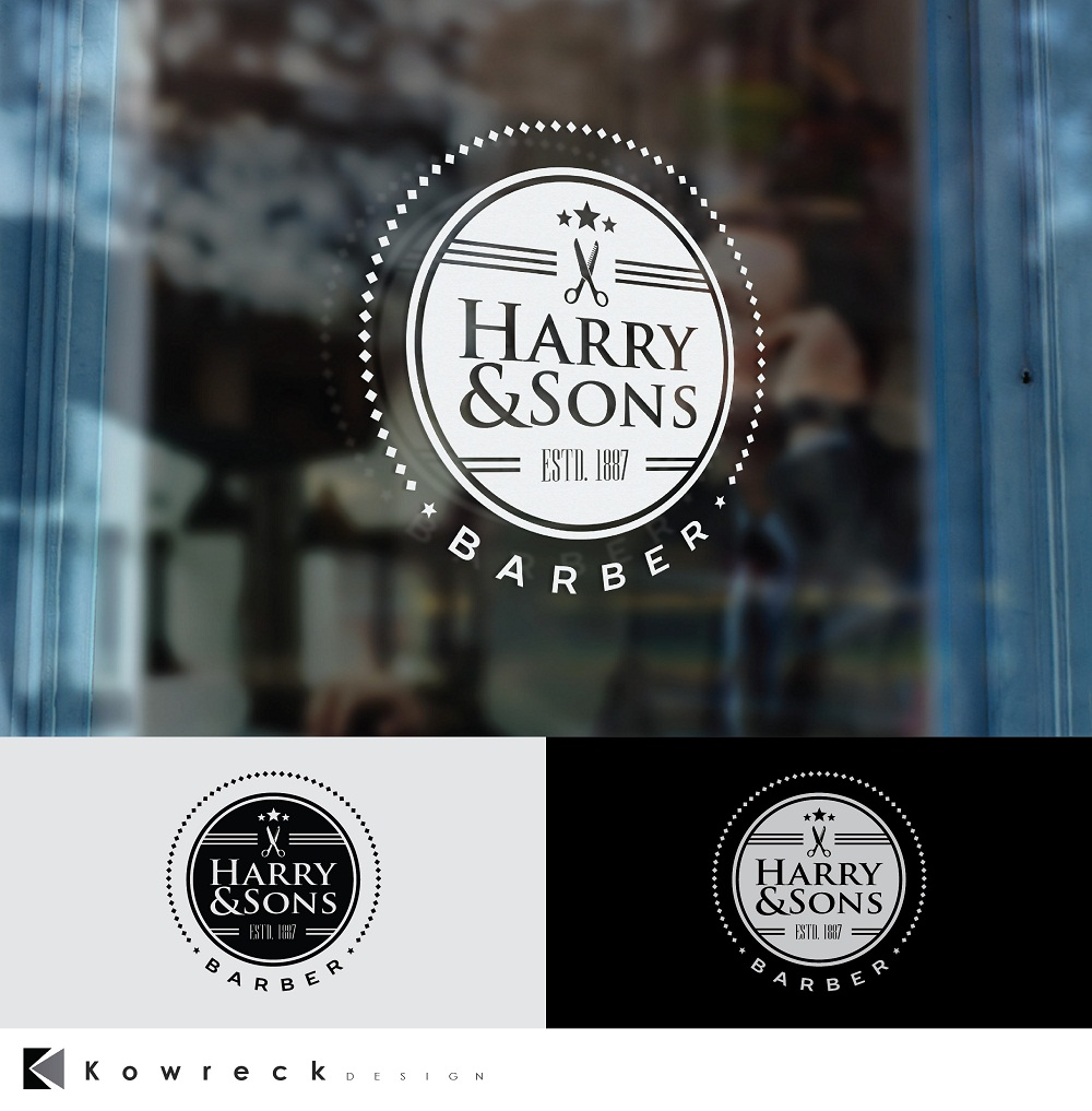 Logo Design by kowreck - Entry No. 16 in the Logo Design Contest Captivating Logo Design for Harry and Sons Barber.