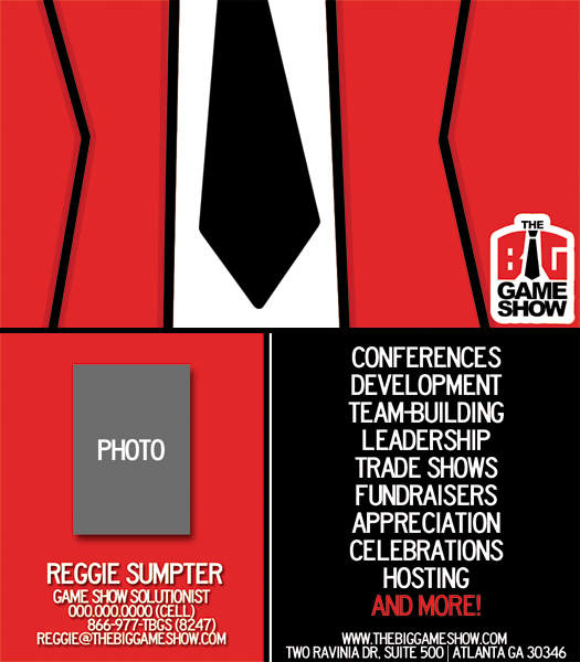 Business Card Design by bambino - Entry No. 21 in the Business Card Design Contest The Big Game Show business cards.