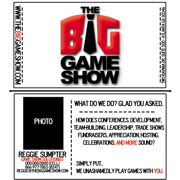 Business Card Design by bambino - Entry No. 22 in the Business Card Design Contest The Big Game Show business cards.