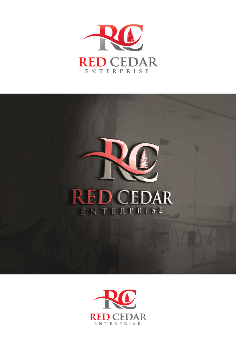 Logo Design by Tauhid Shaikh - Entry No. 101 in the Logo Design Contest Unique Logo Design Wanted for Red Cedar Enterprise.