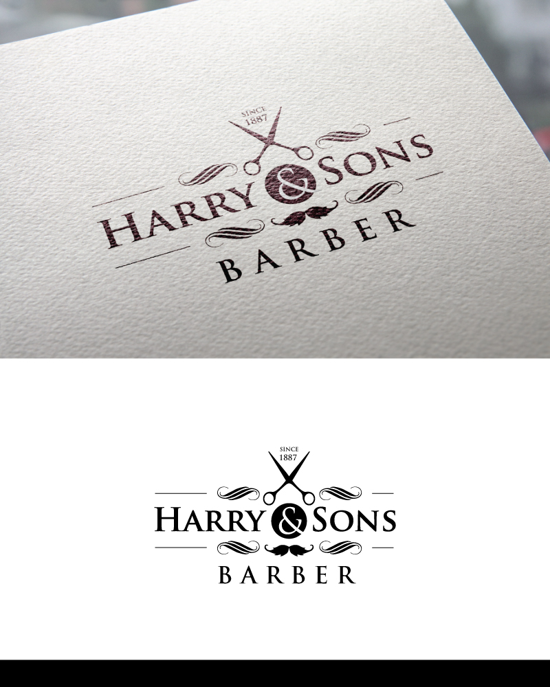 Logo Design by Tauhid Shaikh - Entry No. 18 in the Logo Design Contest Captivating Logo Design for Harry and Sons Barber.