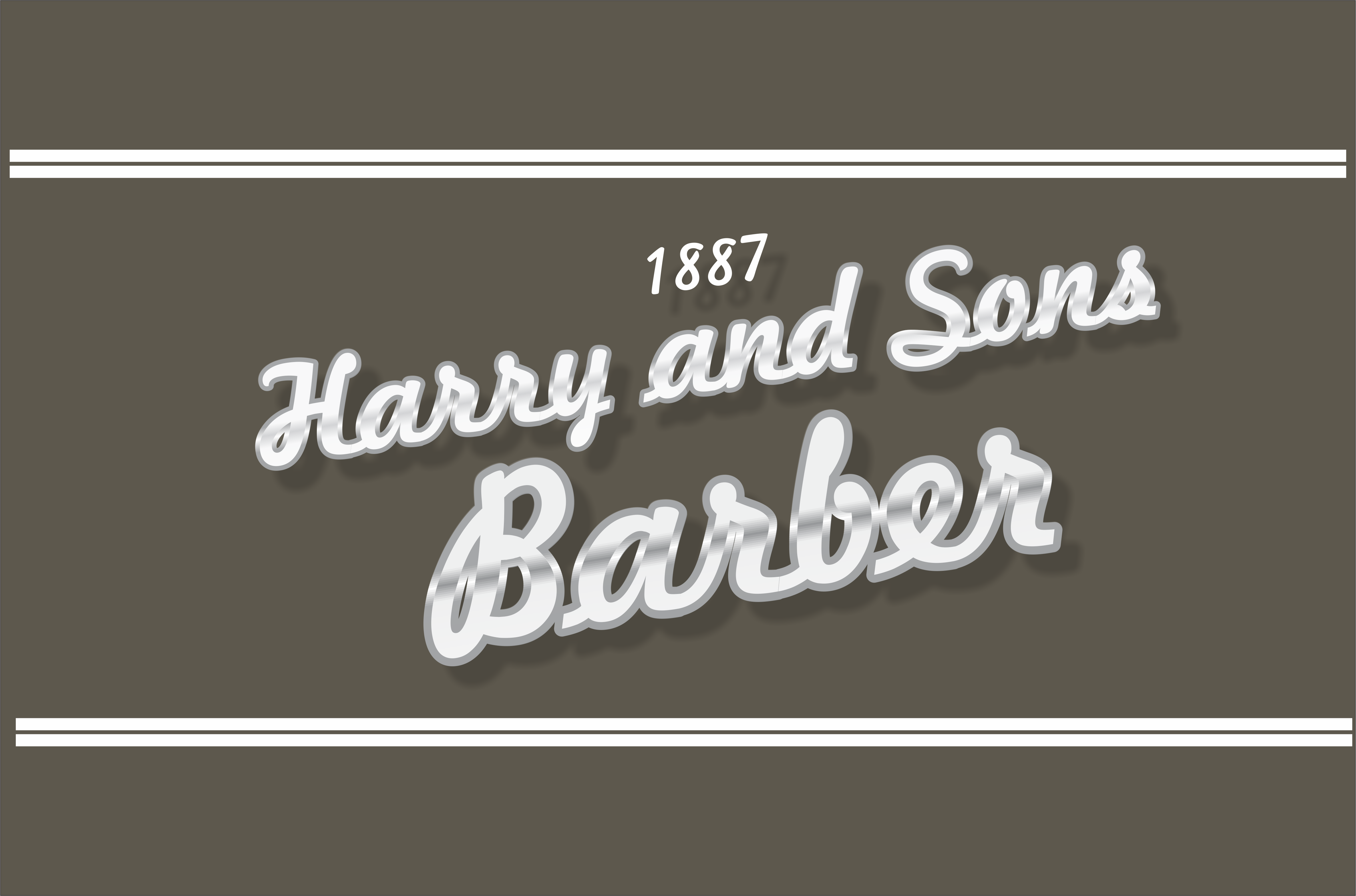 Logo Design by snow - Entry No. 20 in the Logo Design Contest Captivating Logo Design for Harry and Sons Barber.