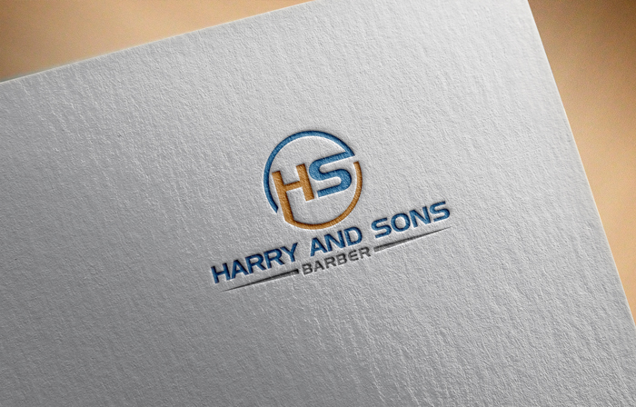 Logo Design by Mohammad azad Hossain - Entry No. 21 in the Logo Design Contest Captivating Logo Design for Harry and Sons Barber.