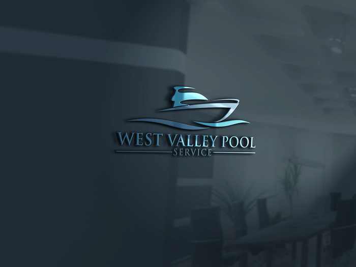 Logo Design by Mohammad azad Hossain - Entry No. 8 in the Logo Design Contest Clever Logo Design for West Valley Pool Service.