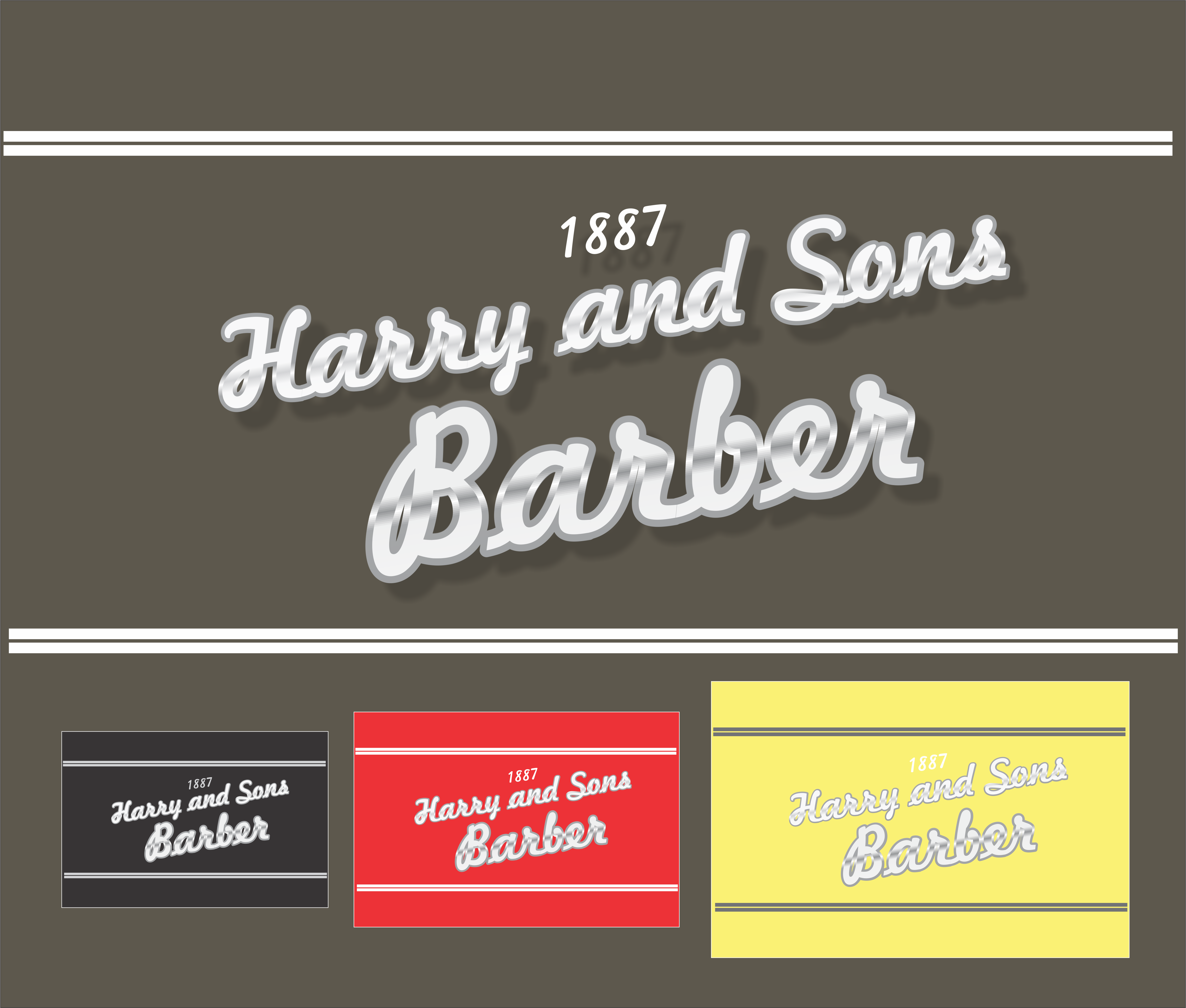 Logo Design by snow - Entry No. 24 in the Logo Design Contest Captivating Logo Design for Harry and Sons Barber.