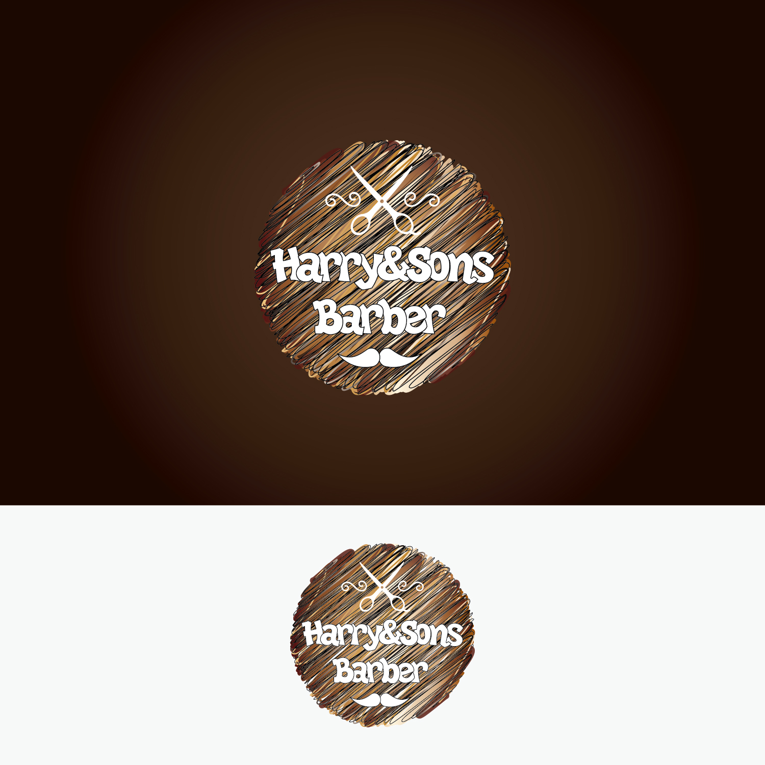 Logo Design by Shahab Uddin - Entry No. 25 in the Logo Design Contest Captivating Logo Design for Harry and Sons Barber.
