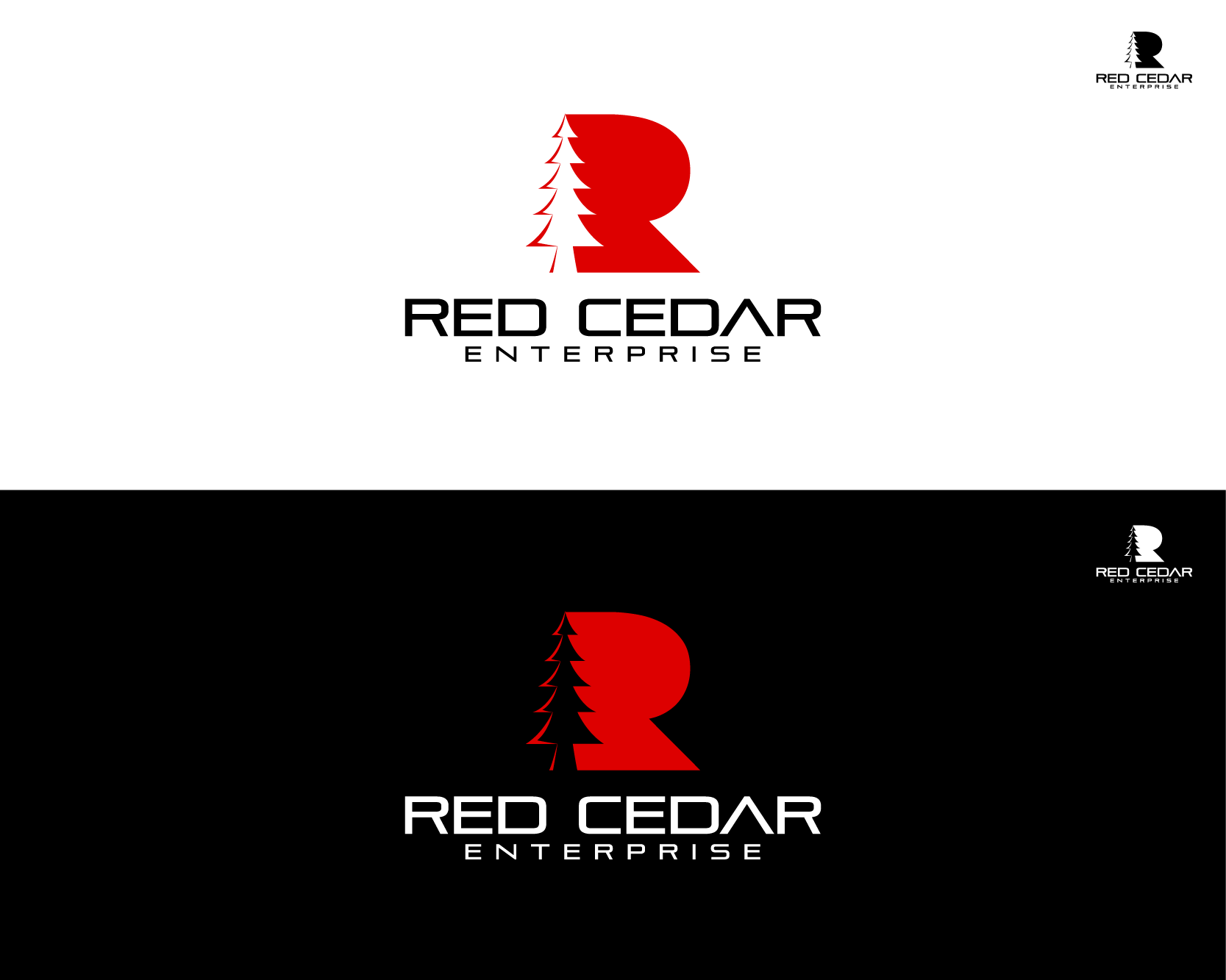Logo Design by Shivaprasad Sangondimath - Entry No. 109 in the Logo Design Contest Unique Logo Design Wanted for Red Cedar Enterprise.