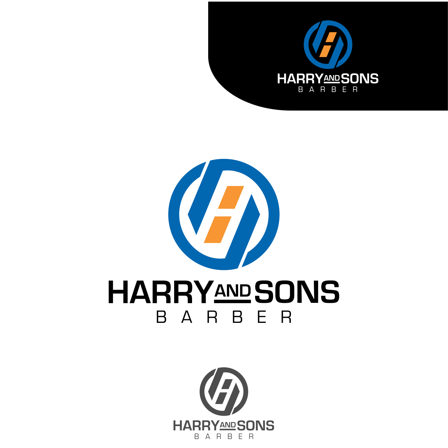Logo Design by Armada Jamaluddin - Entry No. 26 in the Logo Design Contest Captivating Logo Design for Harry and Sons Barber.