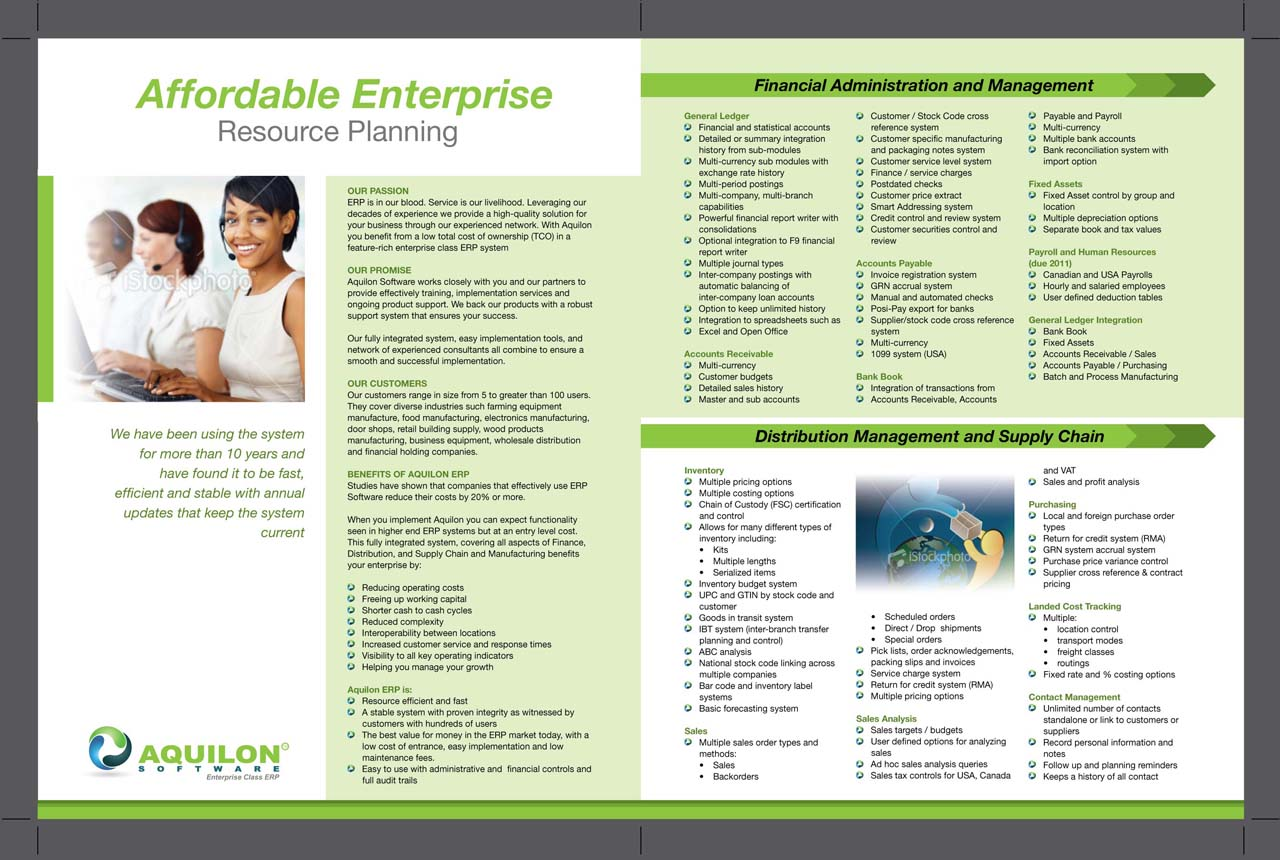 Aquilon software brochure hiretheworld for Software for designing brochures