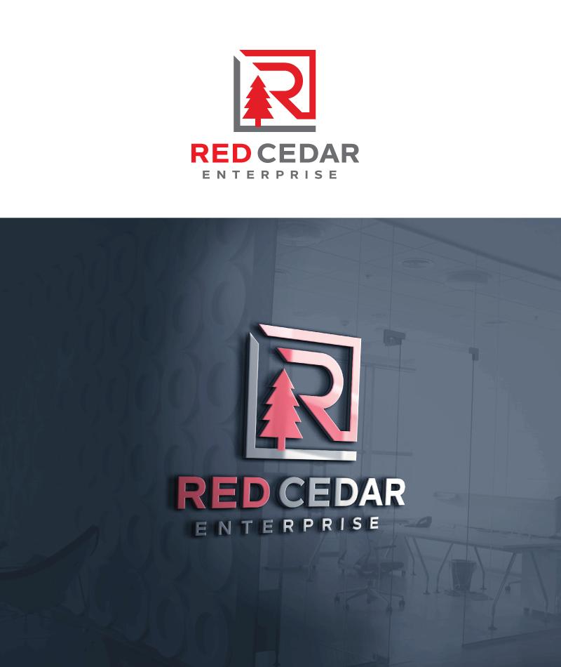 Logo Design by Tauhid Shaikh - Entry No. 119 in the Logo Design Contest Unique Logo Design Wanted for Red Cedar Enterprise.