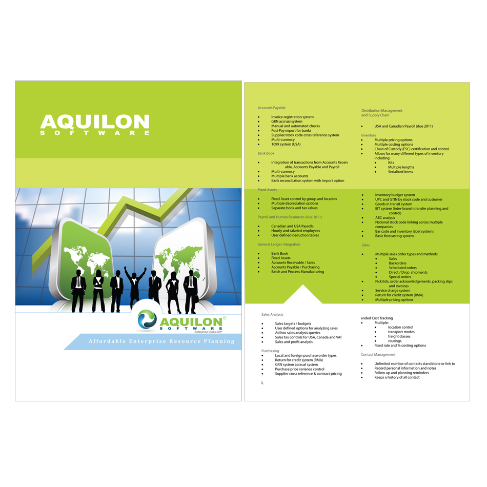 Print design contests aquilon software brochure design for Software for designing brochures