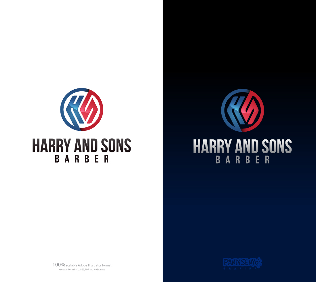 Logo Design by pandisenyo - Entry No. 28 in the Logo Design Contest Captivating Logo Design for Harry and Sons Barber.