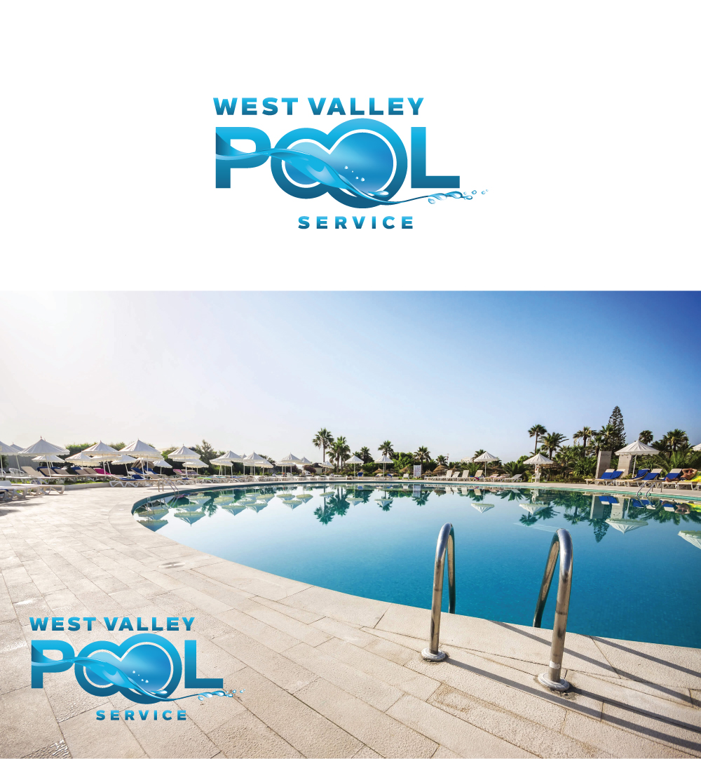 Logo Design by Tauhid Shaikh - Entry No. 10 in the Logo Design Contest Clever Logo Design for West Valley Pool Service.