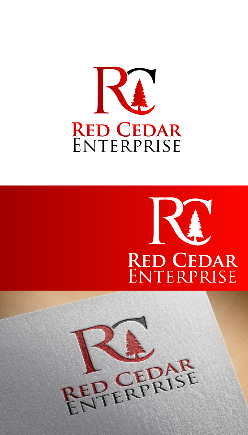 Logo Design by Private User - Entry No. 123 in the Logo Design Contest Unique Logo Design Wanted for Red Cedar Enterprise.