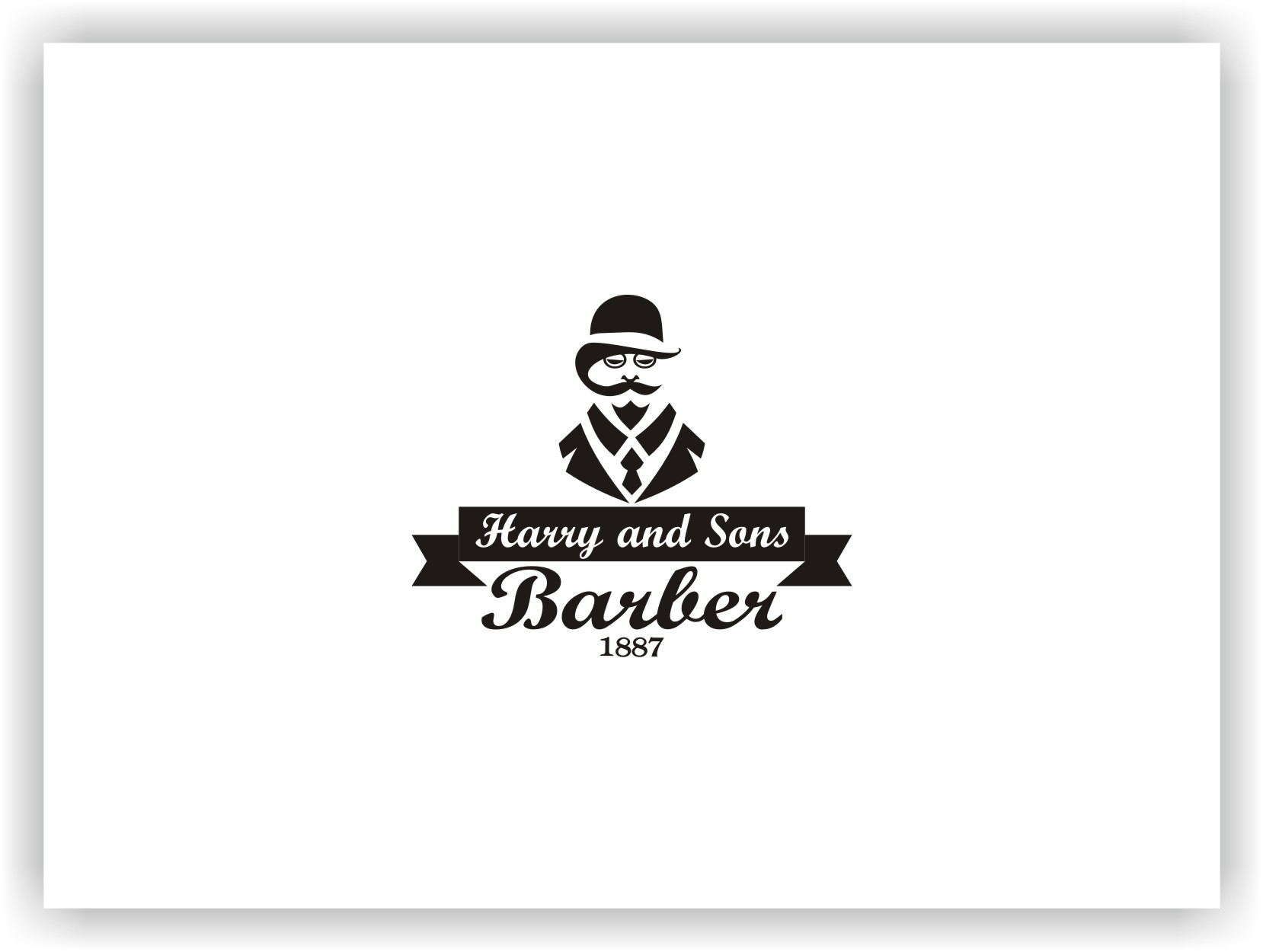 Logo Design by Joaquin Sampaio - Entry No. 29 in the Logo Design Contest Captivating Logo Design for Harry and Sons Barber.