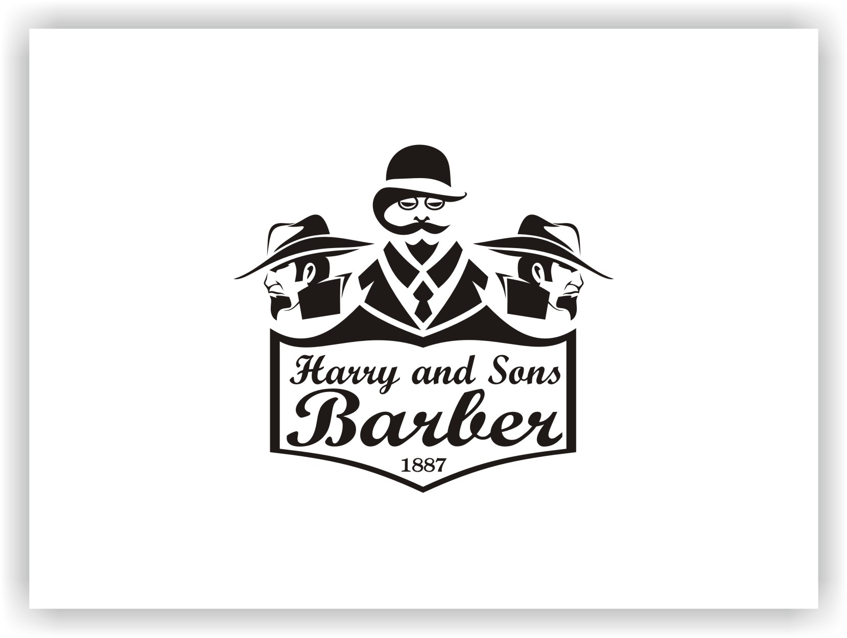 Logo Design by Joaquin Sampaio - Entry No. 30 in the Logo Design Contest Captivating Logo Design for Harry and Sons Barber.