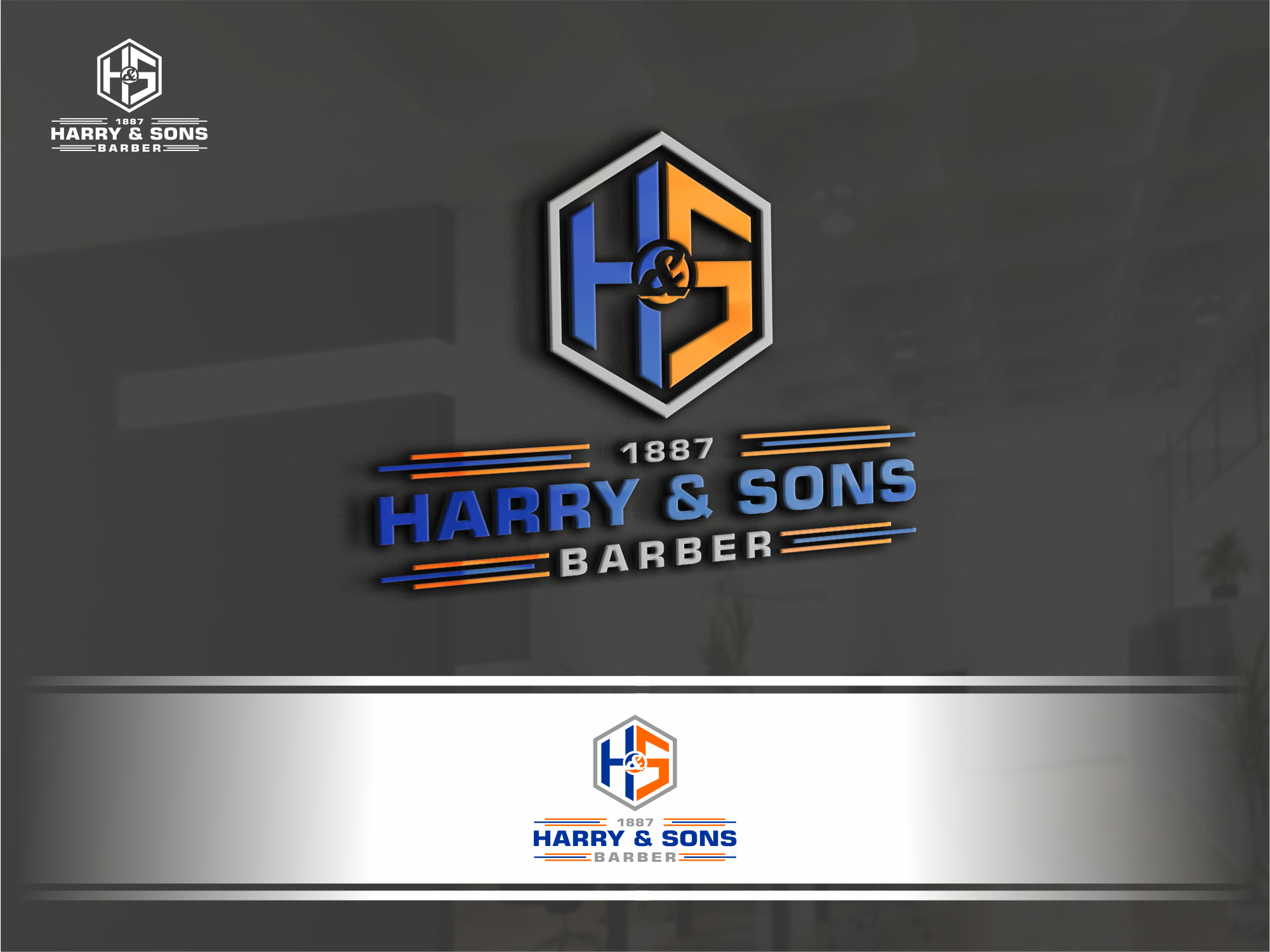 Logo Design by Raymond Garcia - Entry No. 41 in the Logo Design Contest Captivating Logo Design for Harry and Sons Barber.