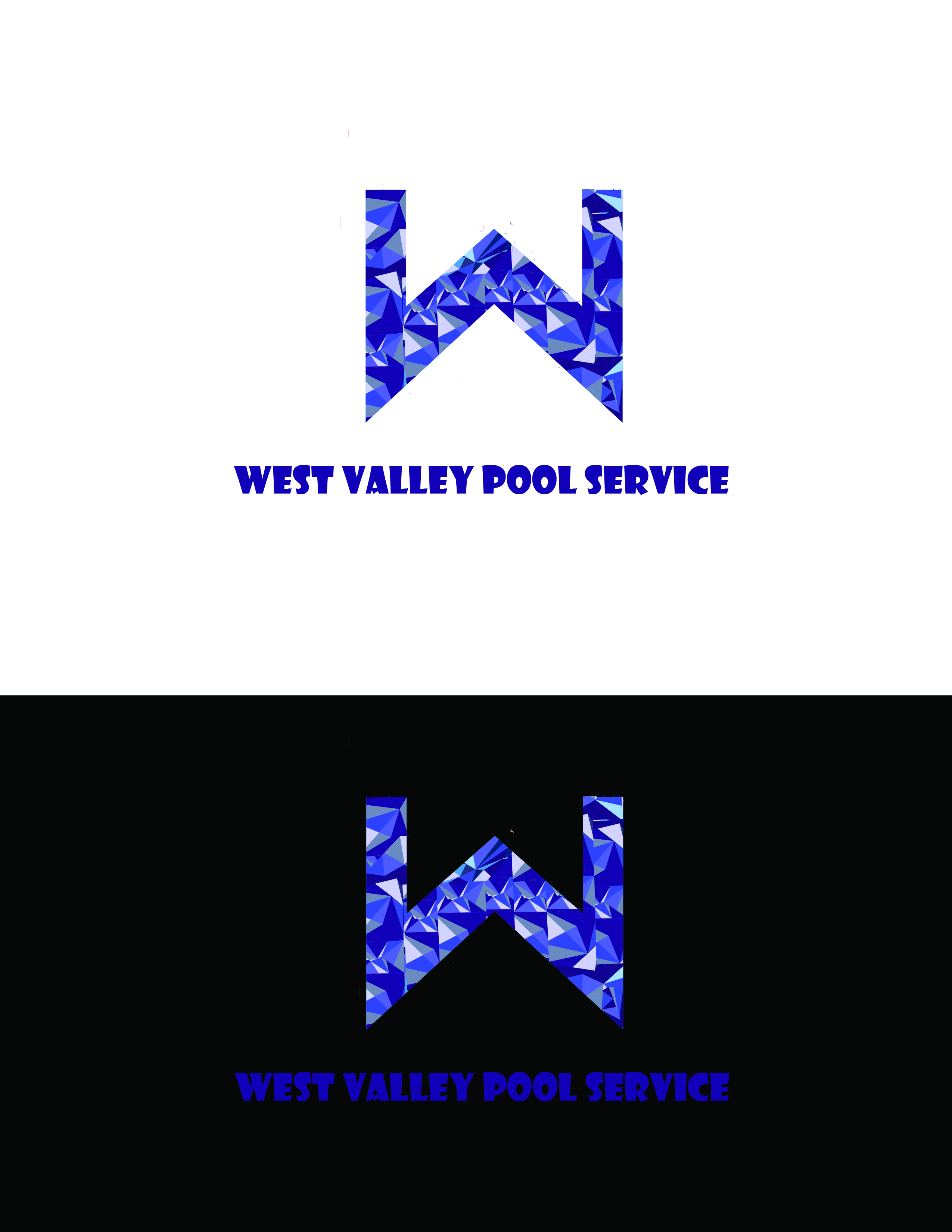 Logo Design by AQIB SHAIKH - Entry No. 16 in the Logo Design Contest Clever Logo Design for West Valley Pool Service.
