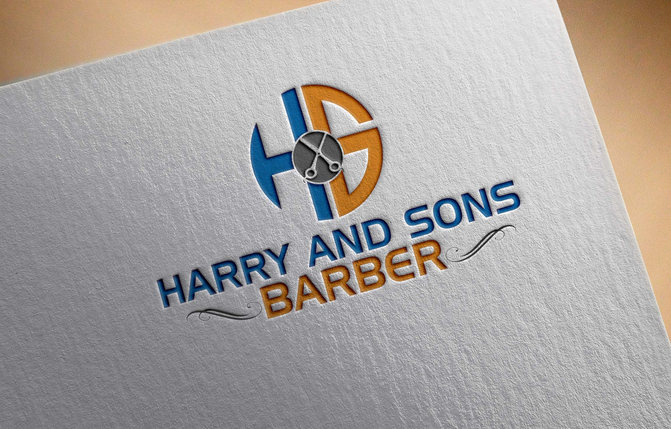 Logo Design by Private User - Entry No. 46 in the Logo Design Contest Captivating Logo Design for Harry and Sons Barber.