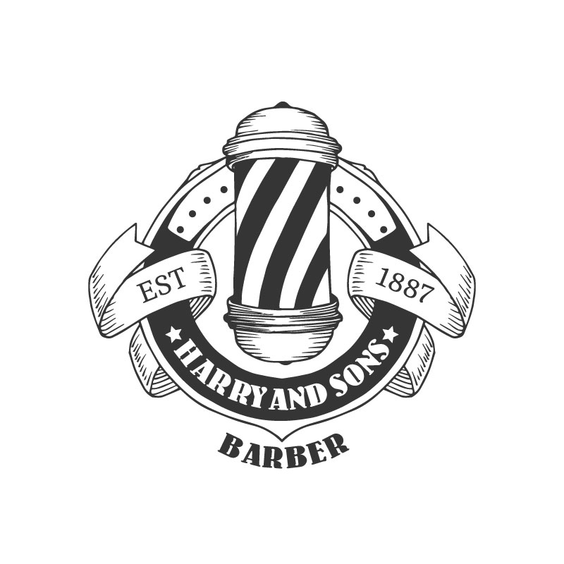 Logo Design by Megha Desai - Entry No. 50 in the Logo Design Contest Captivating Logo Design for Harry and Sons Barber.