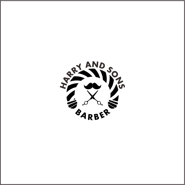 Logo Design by chart - Entry No. 51 in the Logo Design Contest Captivating Logo Design for Harry and Sons Barber.
