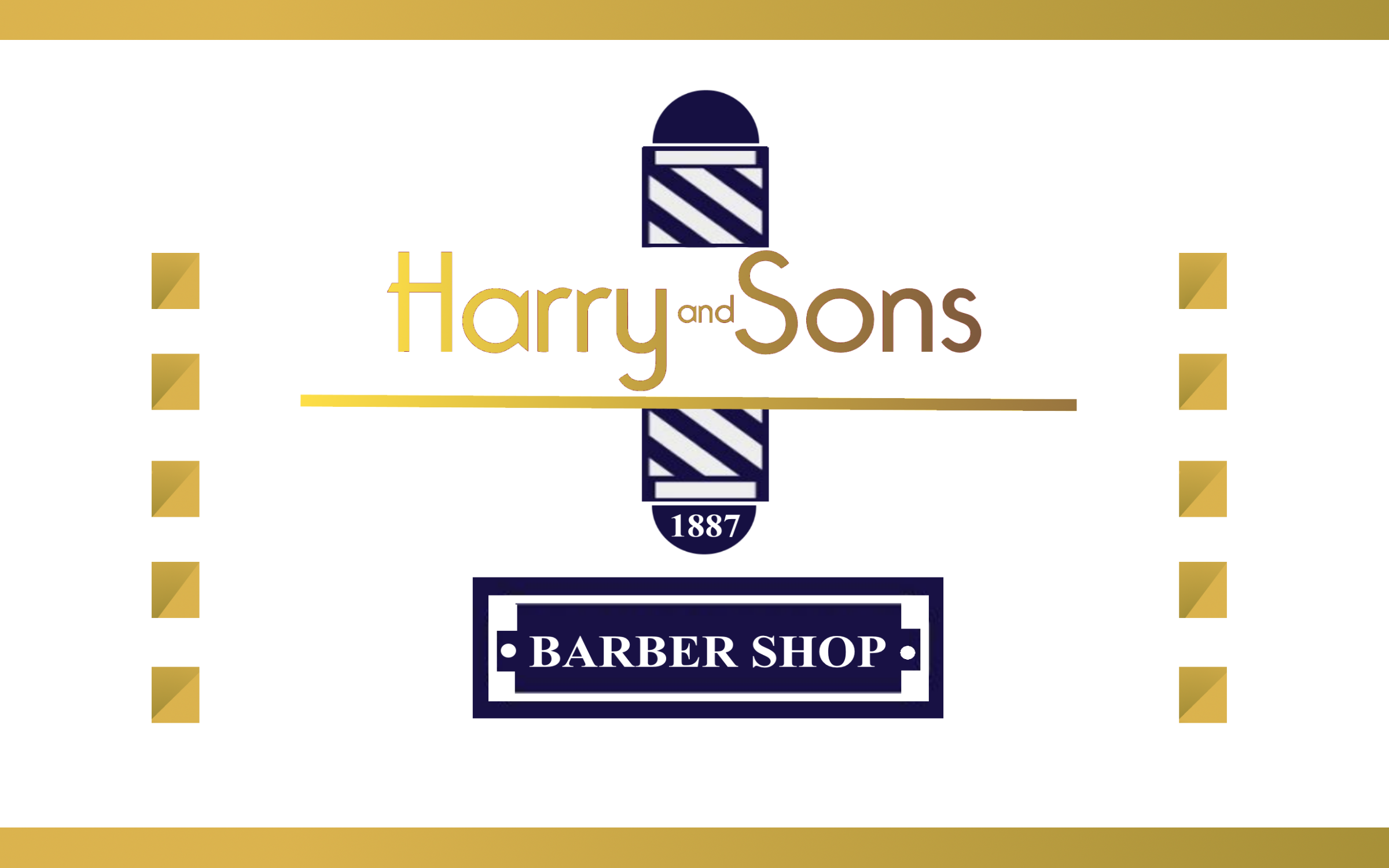 Logo Design by Roberto Bassi - Entry No. 52 in the Logo Design Contest Captivating Logo Design for Harry and Sons Barber.