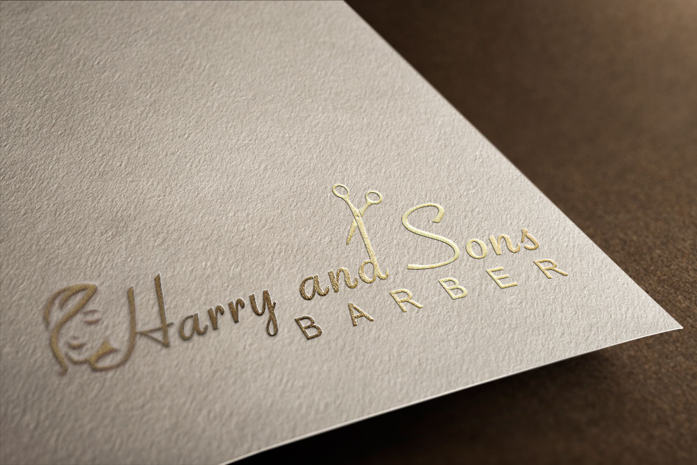 Logo Design by Private User - Entry No. 55 in the Logo Design Contest Captivating Logo Design for Harry and Sons Barber.