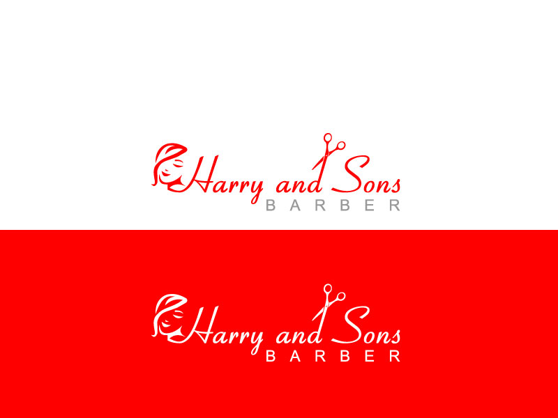 Logo Design by Private User - Entry No. 57 in the Logo Design Contest Captivating Logo Design for Harry and Sons Barber.