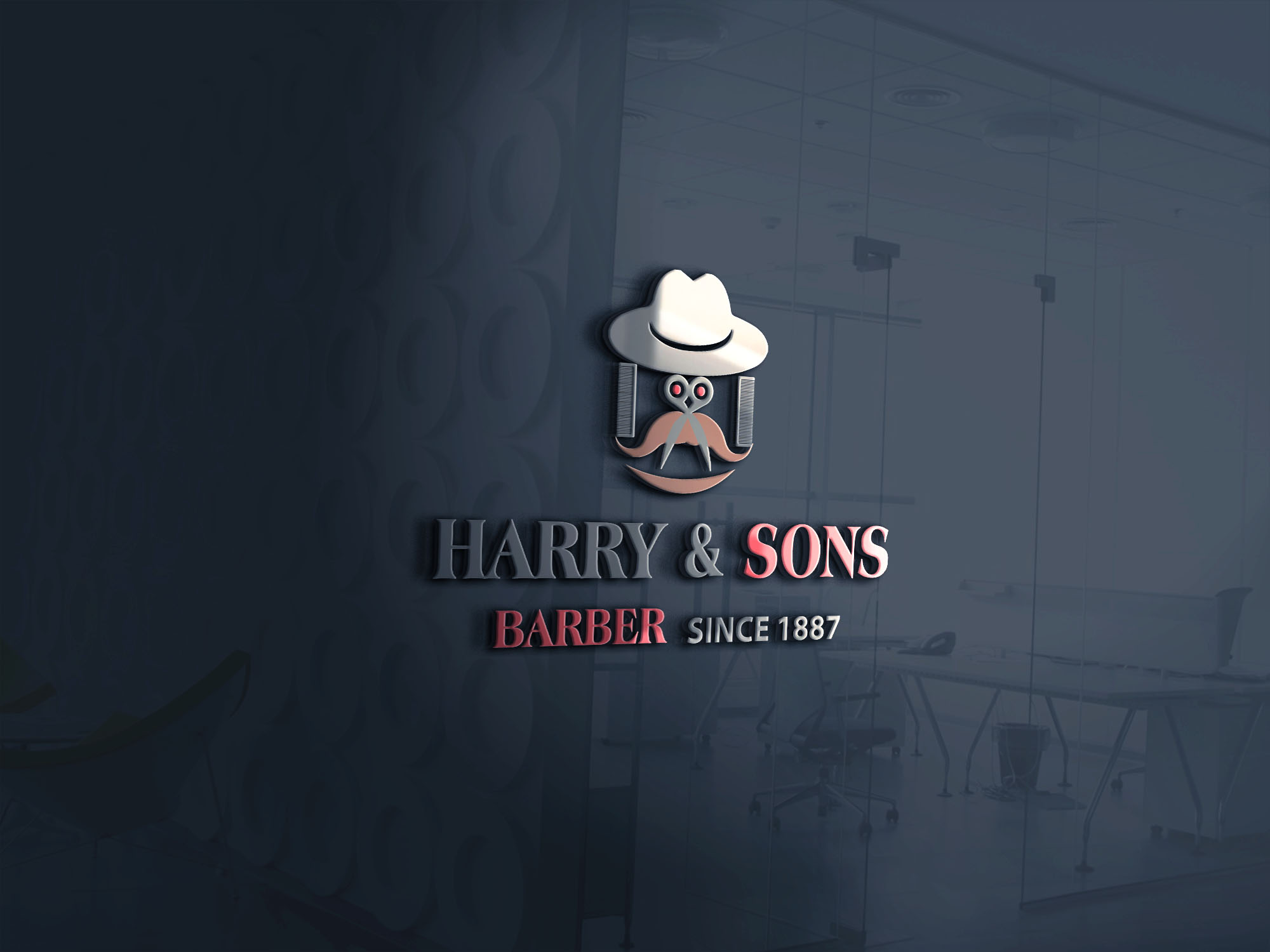 Logo Design by Umair ahmed Iqbal - Entry No. 58 in the Logo Design Contest Captivating Logo Design for Harry and Sons Barber.