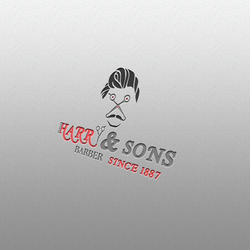 Logo Design by Umair ahmed Iqbal - Entry No. 59 in the Logo Design Contest Captivating Logo Design for Harry and Sons Barber.