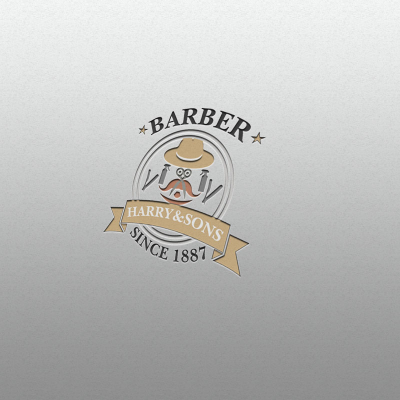Logo Design by Umair ahmed Iqbal - Entry No. 61 in the Logo Design Contest Captivating Logo Design for Harry and Sons Barber.