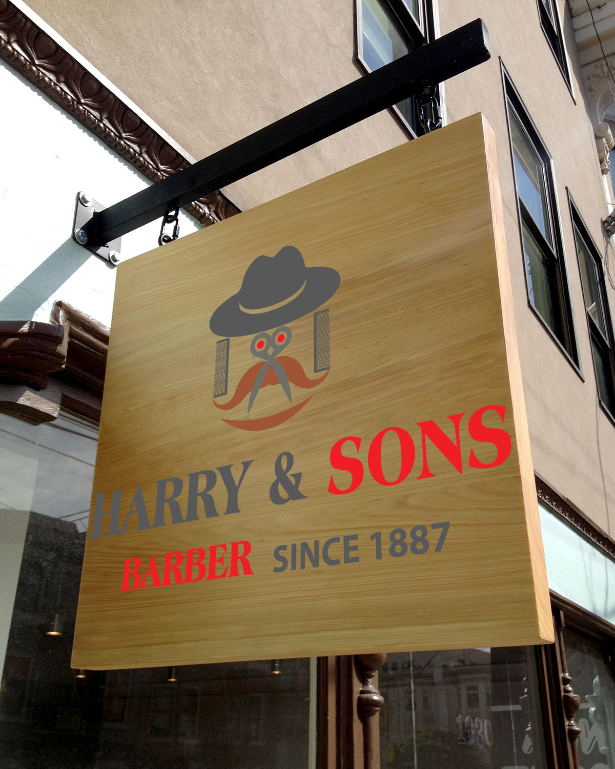 Logo Design by Umair ahmed Iqbal - Entry No. 62 in the Logo Design Contest Captivating Logo Design for Harry and Sons Barber.