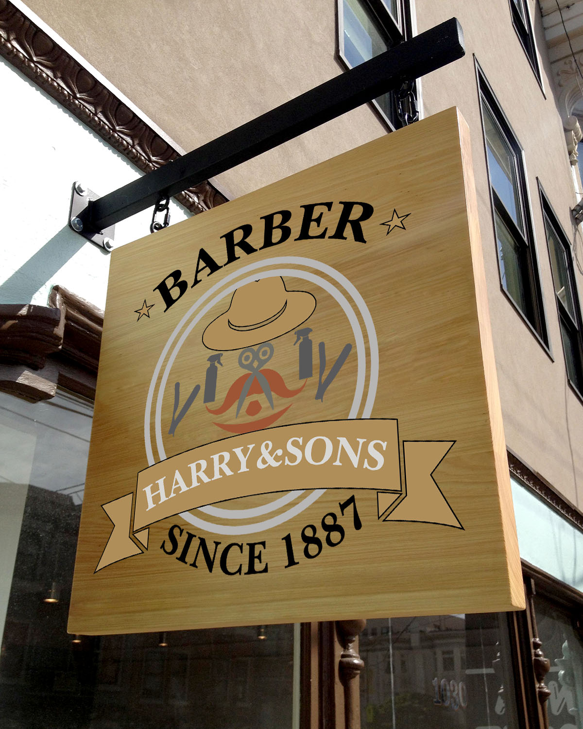 Logo Design by Umair ahmed Iqbal - Entry No. 63 in the Logo Design Contest Captivating Logo Design for Harry and Sons Barber.